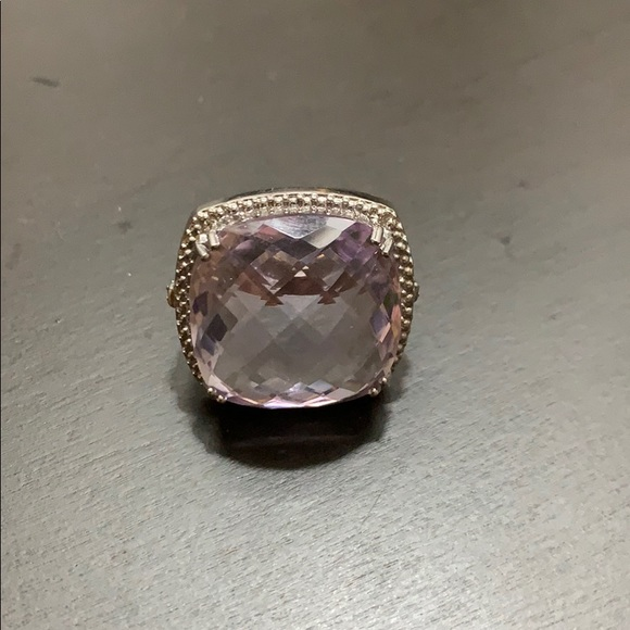 Zales Jewelry Nwot Cushioncut Amethyst Cocktail Ring Poshmark